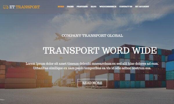 ET Transport – Genesis Framework WordPress Theme