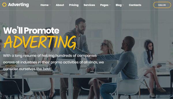 Advertising SEO-Friendly WordPress Theme