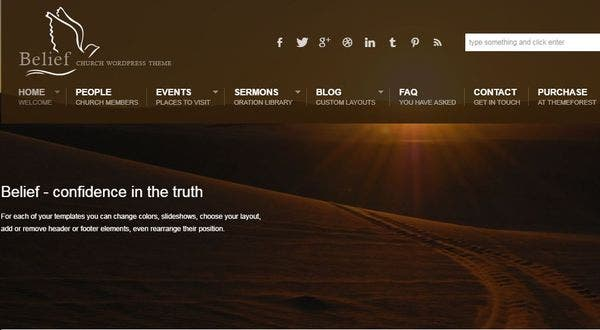Belief – Multiple Layouts WordPress Theme