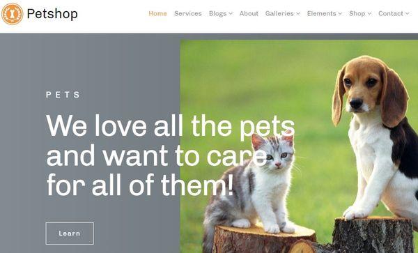 Petshop – Easy Shortcode Generator WordPress theme
