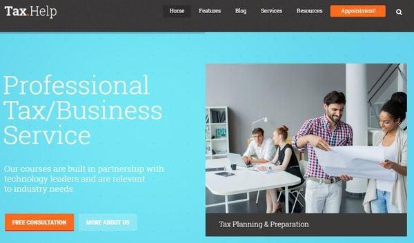 Tax Help – One-click Demo Install WordPress Theme