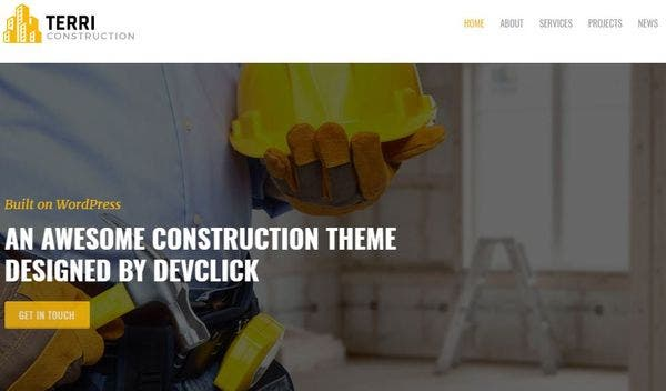 Terri – Trades Men WordPress Theme