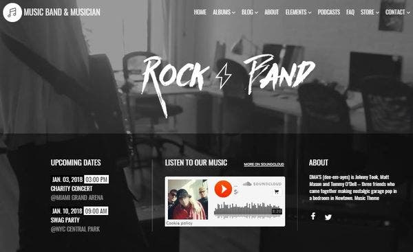 Music- Fluid Layout WordPress Theme