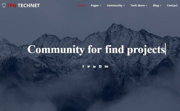 TGP Technet – Multi-color Preset WordPress Theme