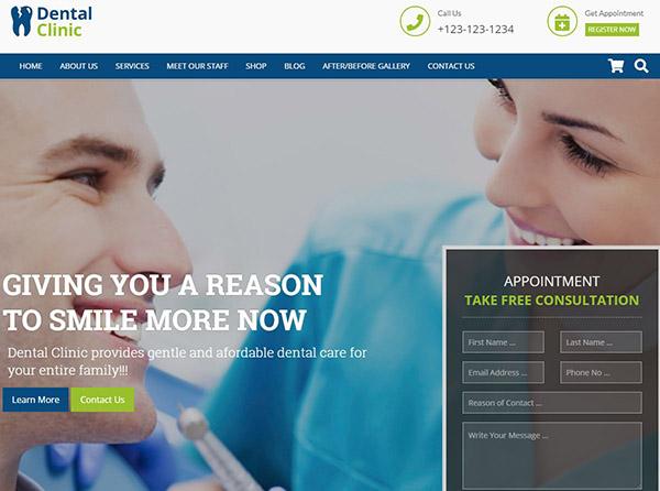 Dental Clinic – Live Editor WordPress Theme