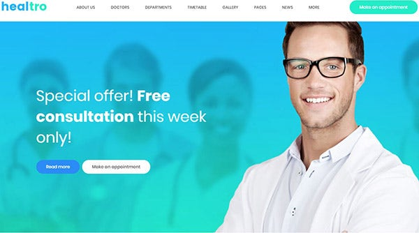 Healtro – Booking Engine Powered WordPress Theme