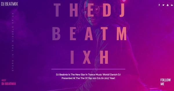 DJ Beatmix - Mobile- friendly WordPress Theme