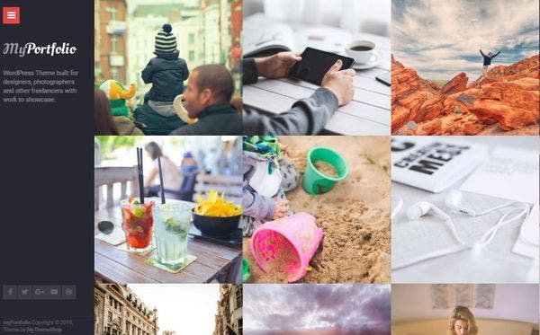 myPortfolio - One-Click Installation WordPress Theme