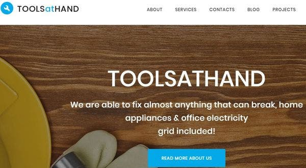Tools At Hand - Custom Widgets WordPress Theme