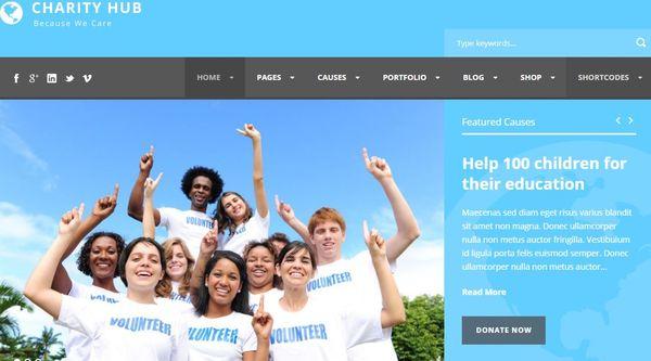 Charity Hub – PayPal Integrated WordPress Theme