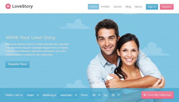LoveStory - Membership System WordPress theme