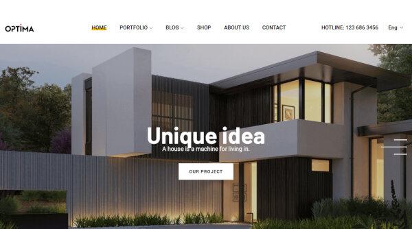 Optima – Translation ready WordPress Theme