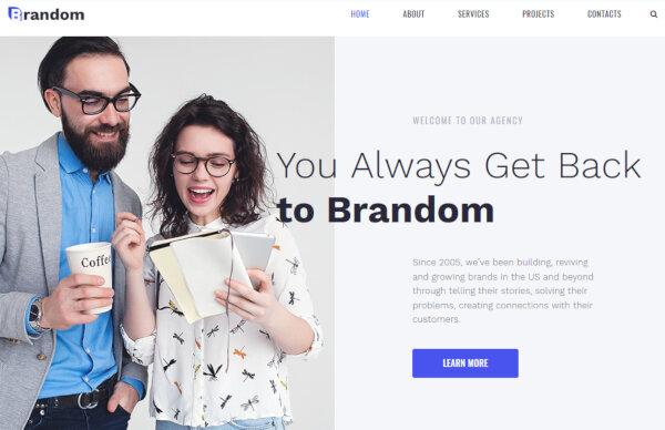 Brandom- Retina ready WordPress Theme