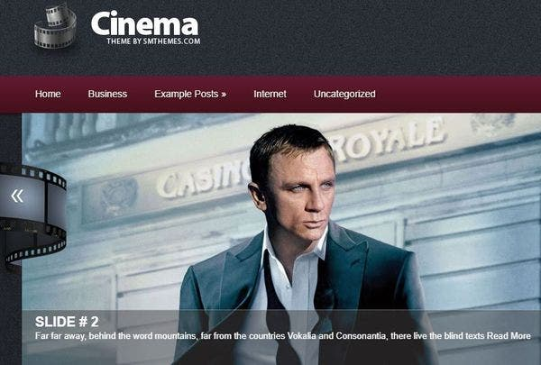 Cinema – Social Bar Supported WordPress Theme