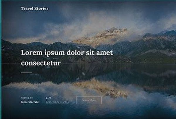 Travel stories- Customizable WordPress Theme