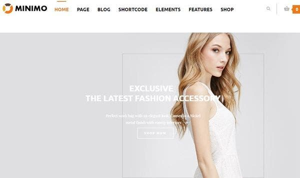 Minimo - Parallax Effect Supported WordPress Theme