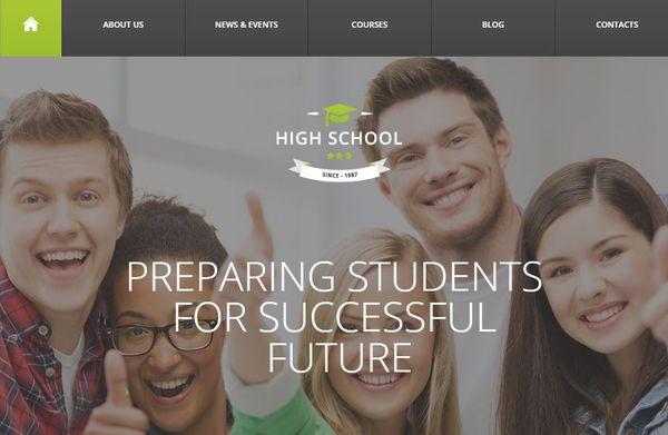 High School – Auto-Updater WordPress Theme