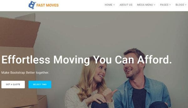 Fast Moves – FontAwesome Integrated WP Theme