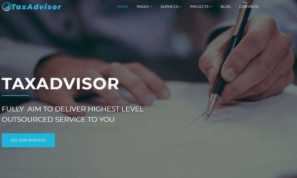 TaxAdvisor - Intuitive Admin Panel WordPress Theme