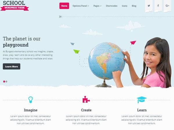 School – HTML5 and CSS3 Powered WordPress Theme
