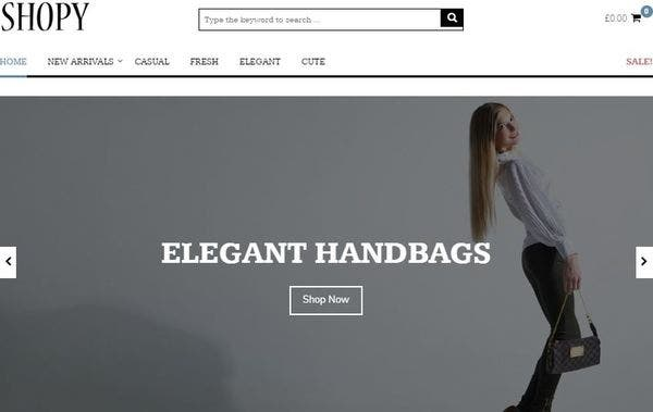 Shopy – HTML5 and CSS3 Validated WordPress Theme