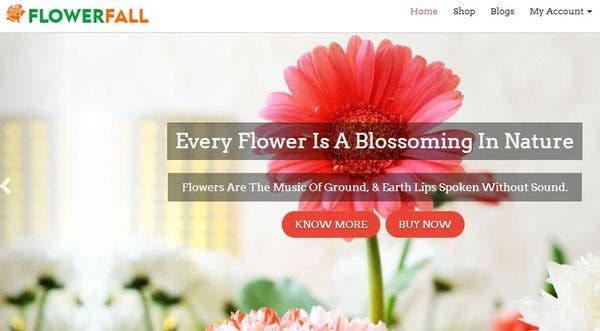 Flowerfall: Social Media integrated WordPress Theme