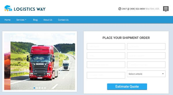 Logistics Way – Google Map API WordPress Theme