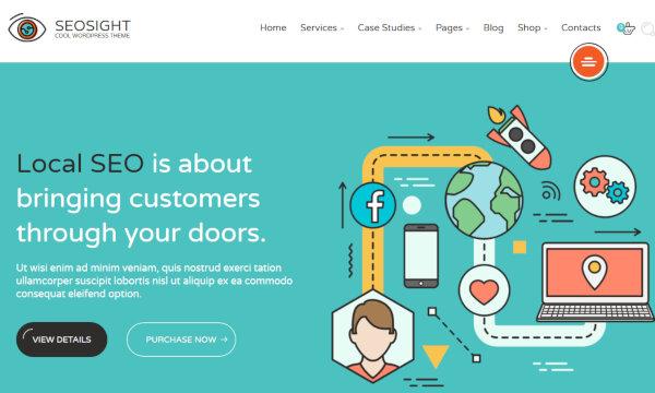 Seosight -Woo Commerce Integrated WordPress Theme