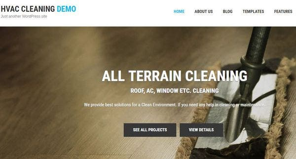 HVAC and Cleaning – Translation Ready WordPress Theme