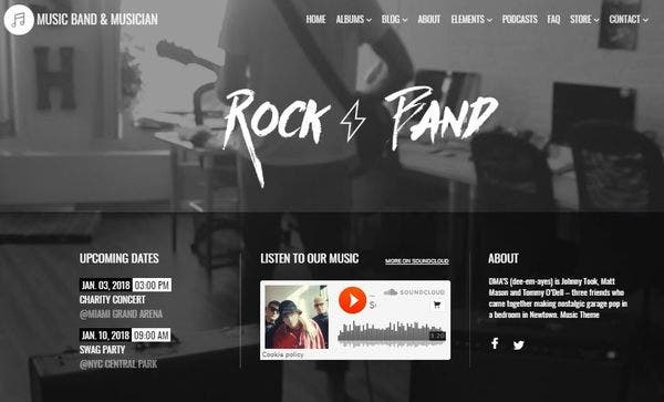 Music WordPress – Drag and drop powered WordPress Theme