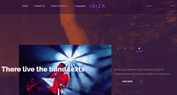 Ibiza – CSS and HTML5 WordPress Theme