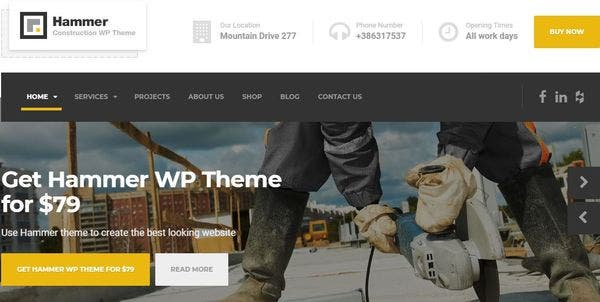Hammer – UX Design WordPress Theme