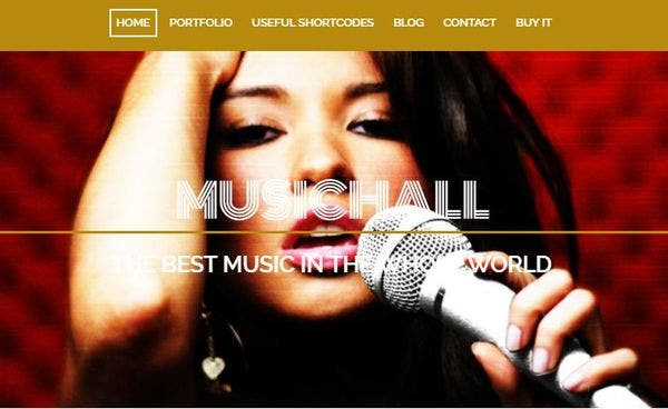 Music Hall- Codestyling Localization Enabled WordPress Theme