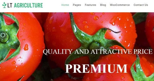 LT Agriculture – Shortcode Integrated WordPress Theme
