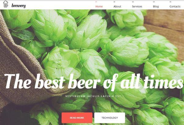 Brewery – Google Map Compatible WordPress Theme