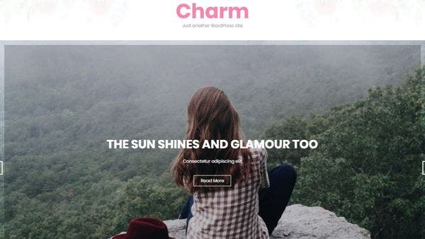 Charm – Google Fonts Integrated WordPress Theme