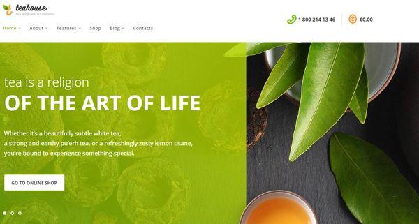 Tea House - WooCommerce ready WordPress Theme