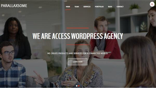 ParallaxSome- Multilingual WordPress Theme