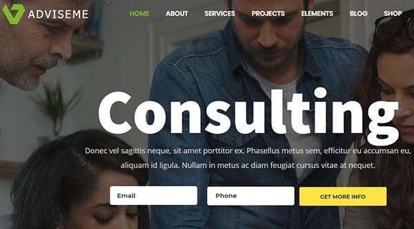 BizCoachAdviseme – SEO optimized business coaching WordPress theme – A responsive and fast-load WordPress theme