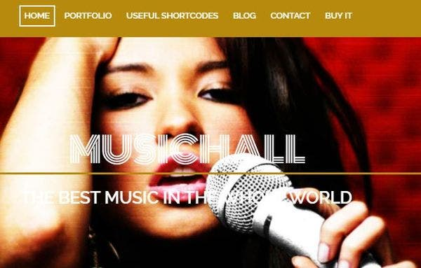 Music Hall – HTML5 and CSS3 Based WordPress Theme
