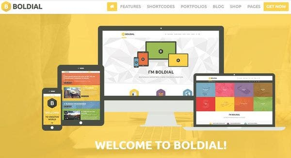 Boldial– 3D cube And Flip portfolio Supported WordPress Theme