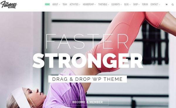 Fitness - Visualmodo Compatible WordPress Theme