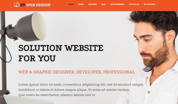ET WebDesign – Catchy Fonts Integrated WP Theme