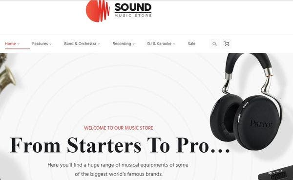 Sound – Mega Menu WordPress Theme