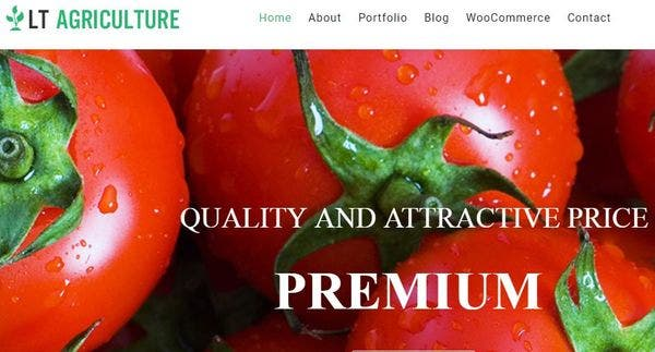 LT Agriculture – Single Page WordPress Theme