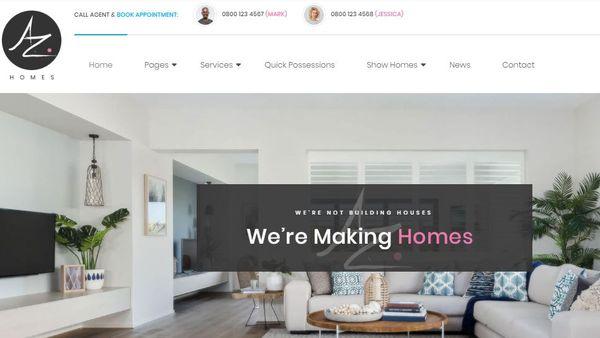 AZhomes - Real Estate Catalog WordPress Theme