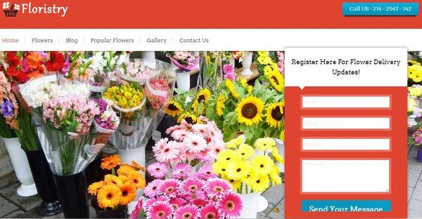 Floristry: Lead Capture Integrated WordPress Theme