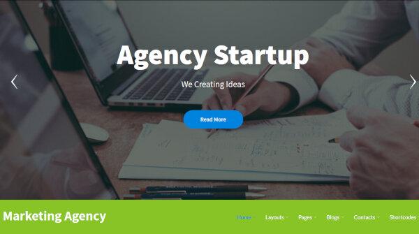 Marketing Agency- RTL Compliant WordPress Theme