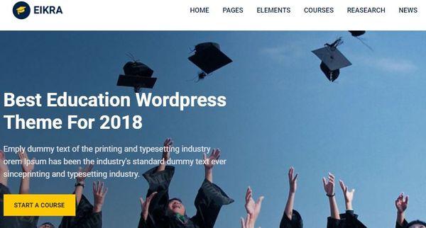 Eikra Education – Mobile-Optimized WordPress Theme