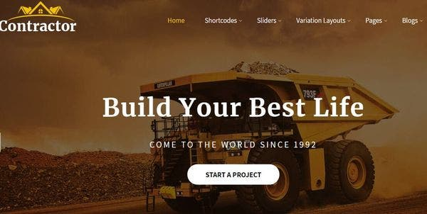 Contractor Pro – HTML 5 Valid WordPress Theme